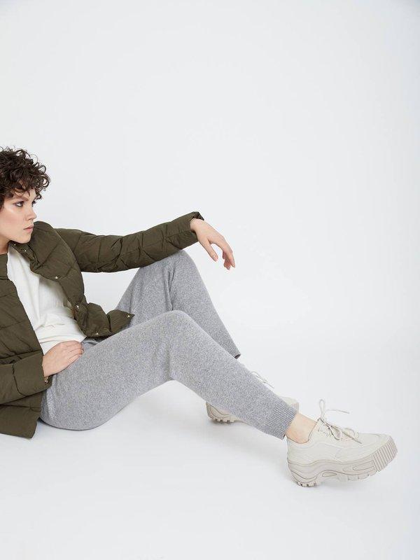 Свободные трикотажные брюки цвет: серый меланж
