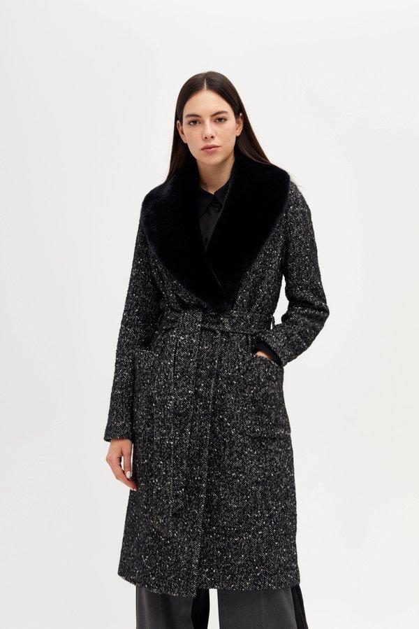 Пальто со съемной отделкой