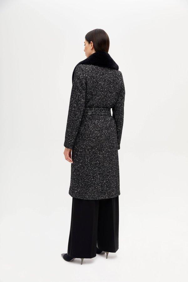 Пальто со съемной отделкой вид сзади