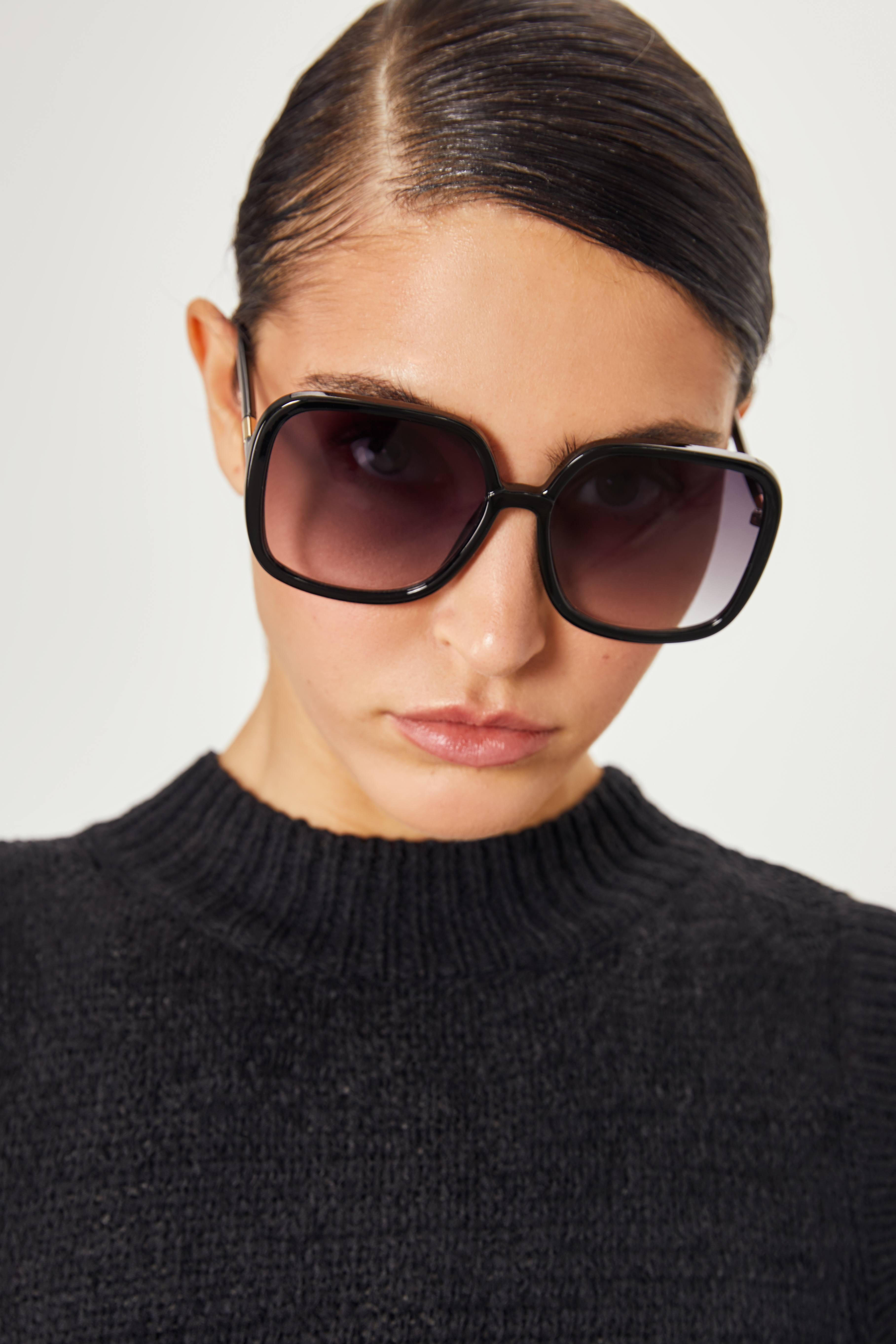 цена на Очки солнцезащитные LIME Солнцезащитные очки в оправе геометрической формы