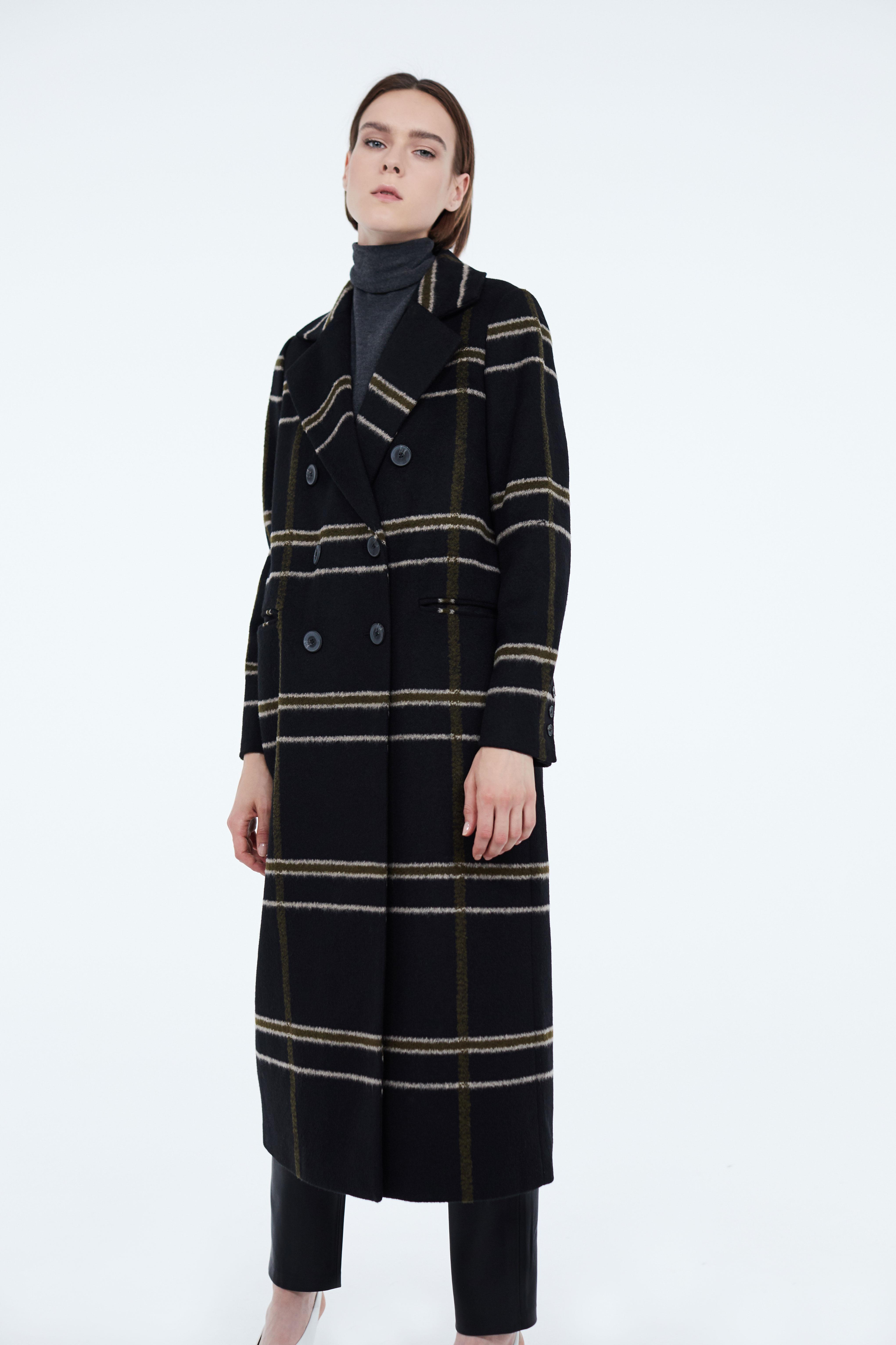 цены Полупальто LIME Длинное двубортное пальто