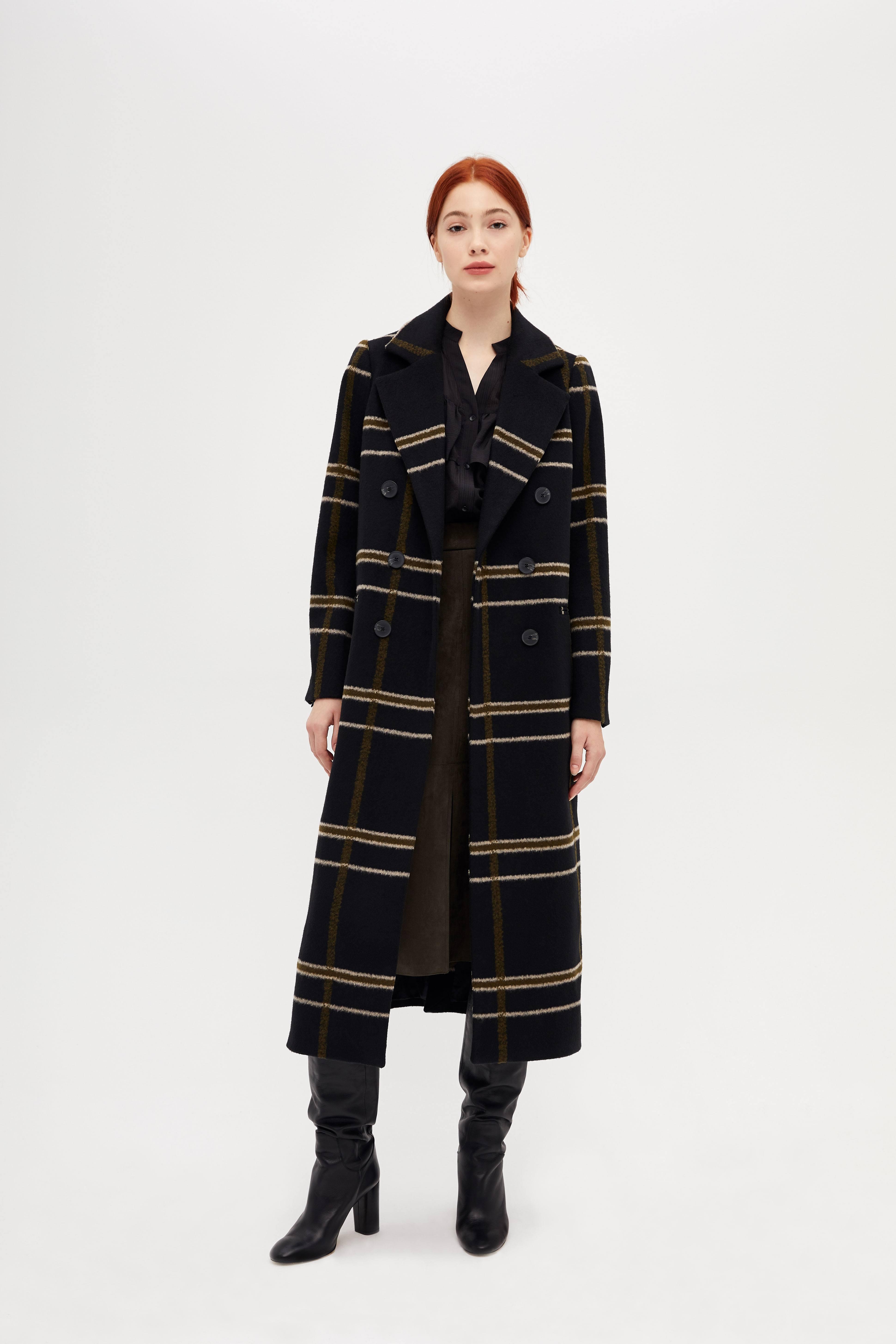 все цены на Полупальто LIME Длинное двубортное пальто онлайн