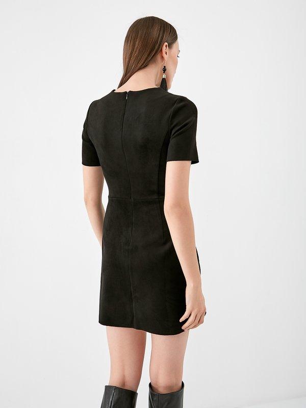 Платье из замши  вид сзади