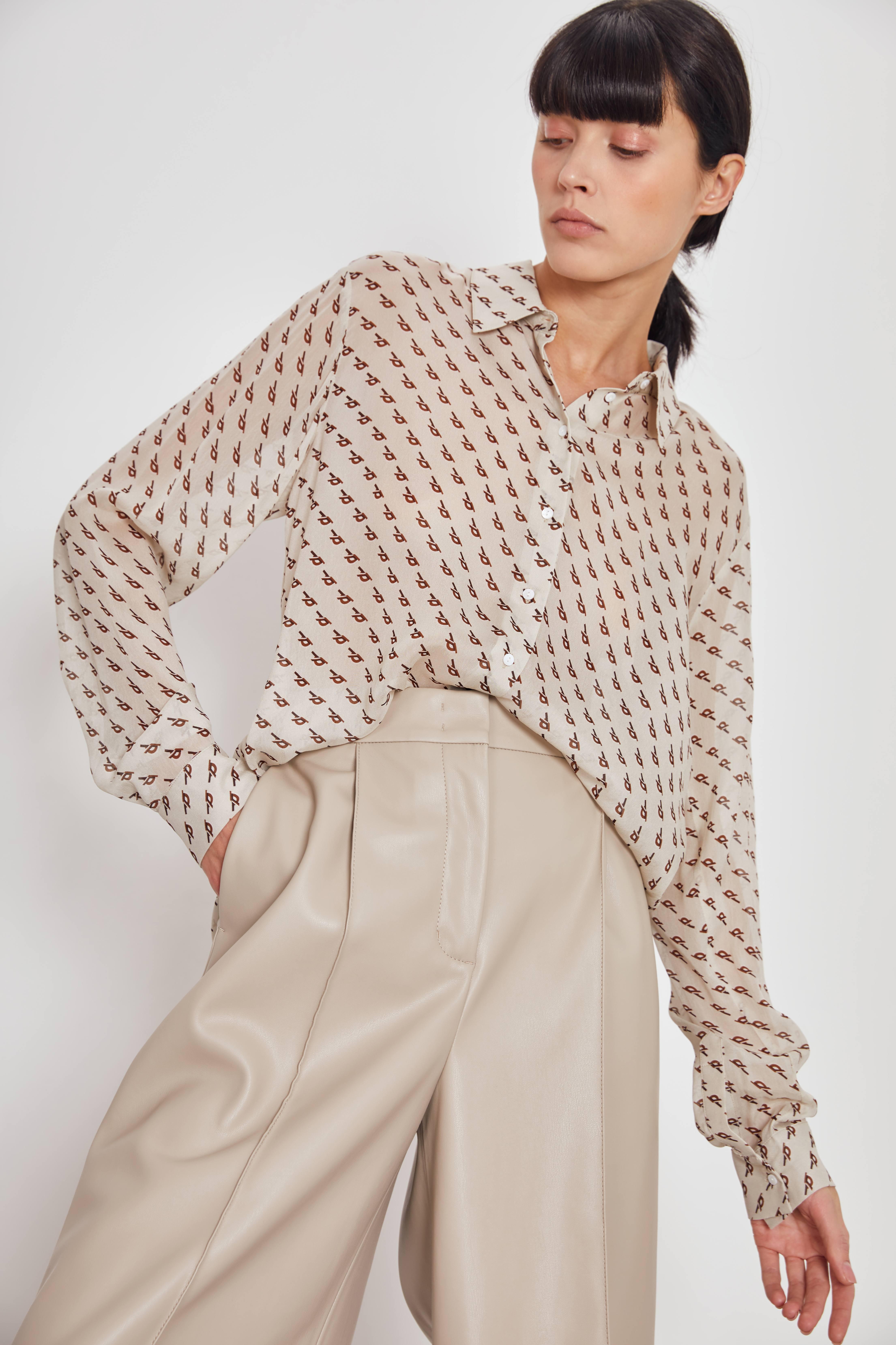 Рубашка LIME Рубашка с принтом рубашка lime свободная рубашка