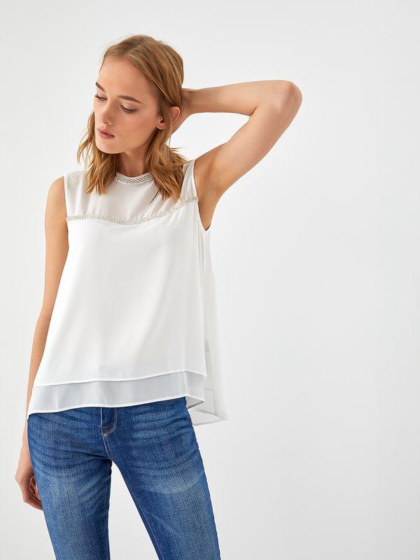 блузка цвет: молочный