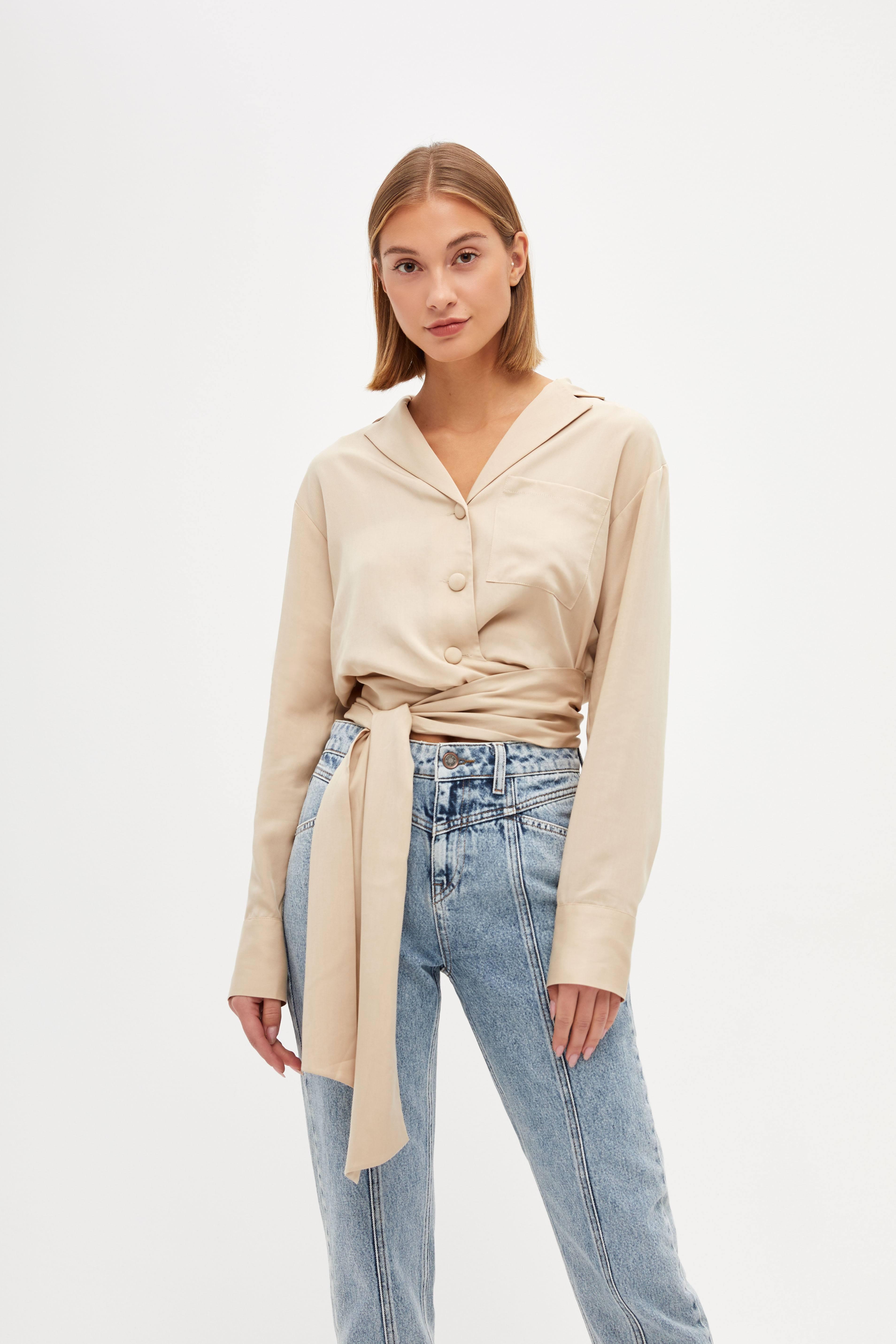 цены Блузка LIME Укороченная блузка