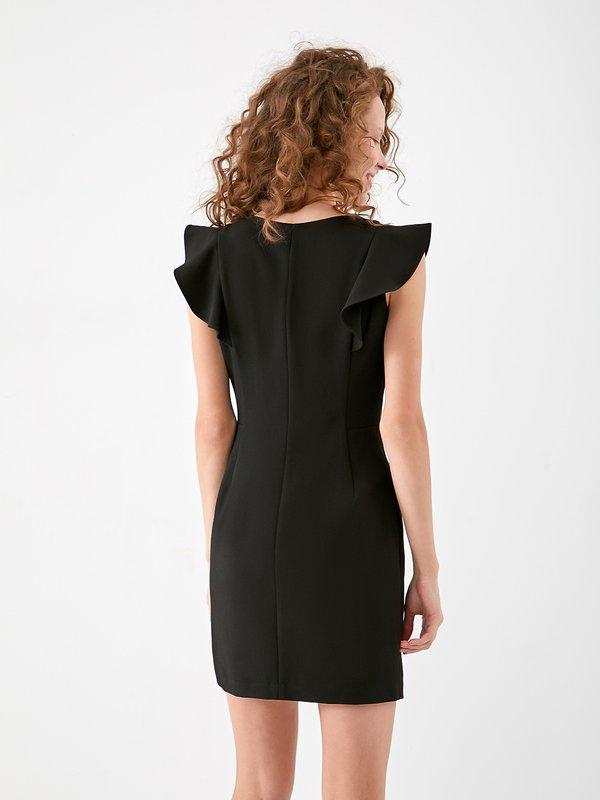 Платье с воланами  вид сзади