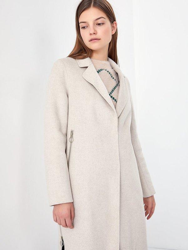 Свободное пальто цвет: бежевый
