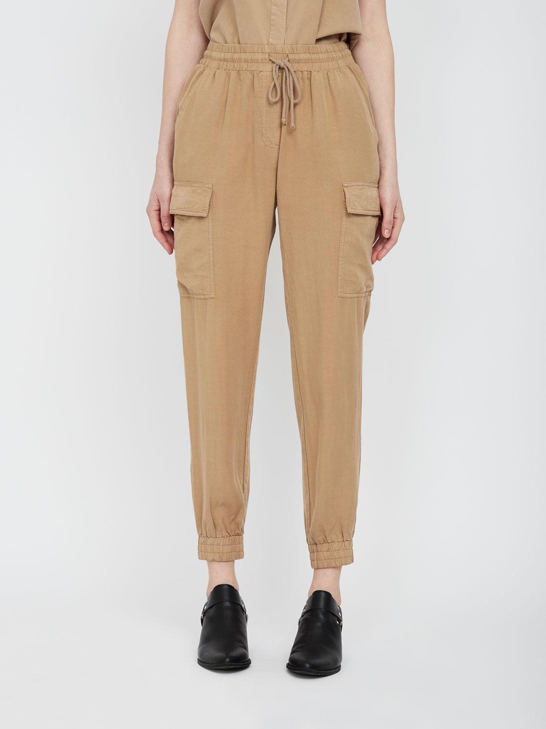 Зауженные брюки карго