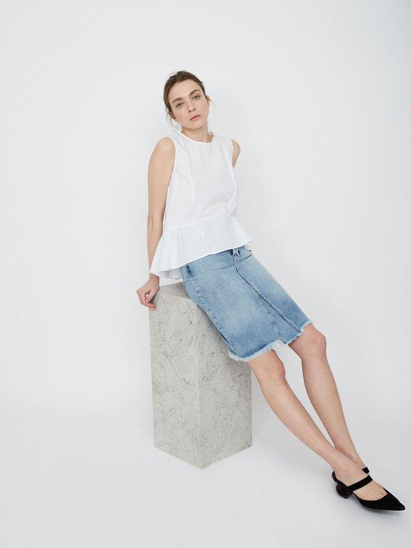 Блузка с асимметричным низом цвет: белый