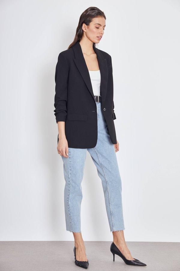 Пиджак с подворачиваемыми рукавами цвет: черный