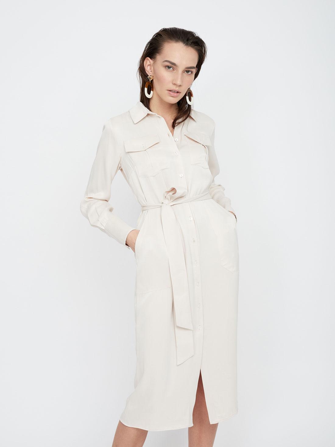 Атласное платье из вискозы
