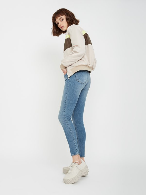Зауженные джинсы цвет: синий