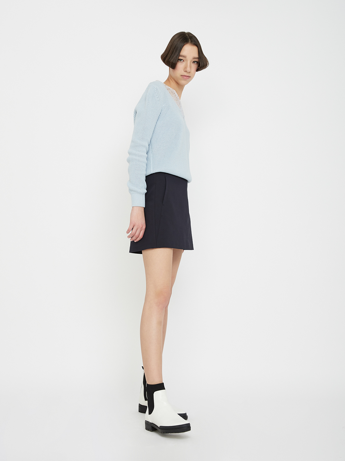 Юбка LIME Юбка-шорты юбка короткая из денима с геометрическим рисунком