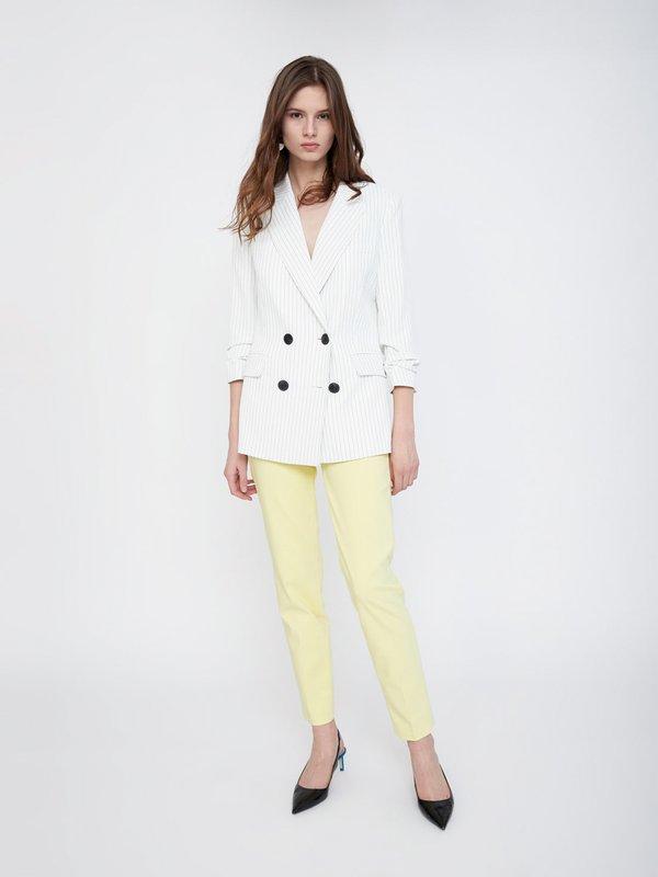 Классические брюки со стрелками цвет: светло-желтый