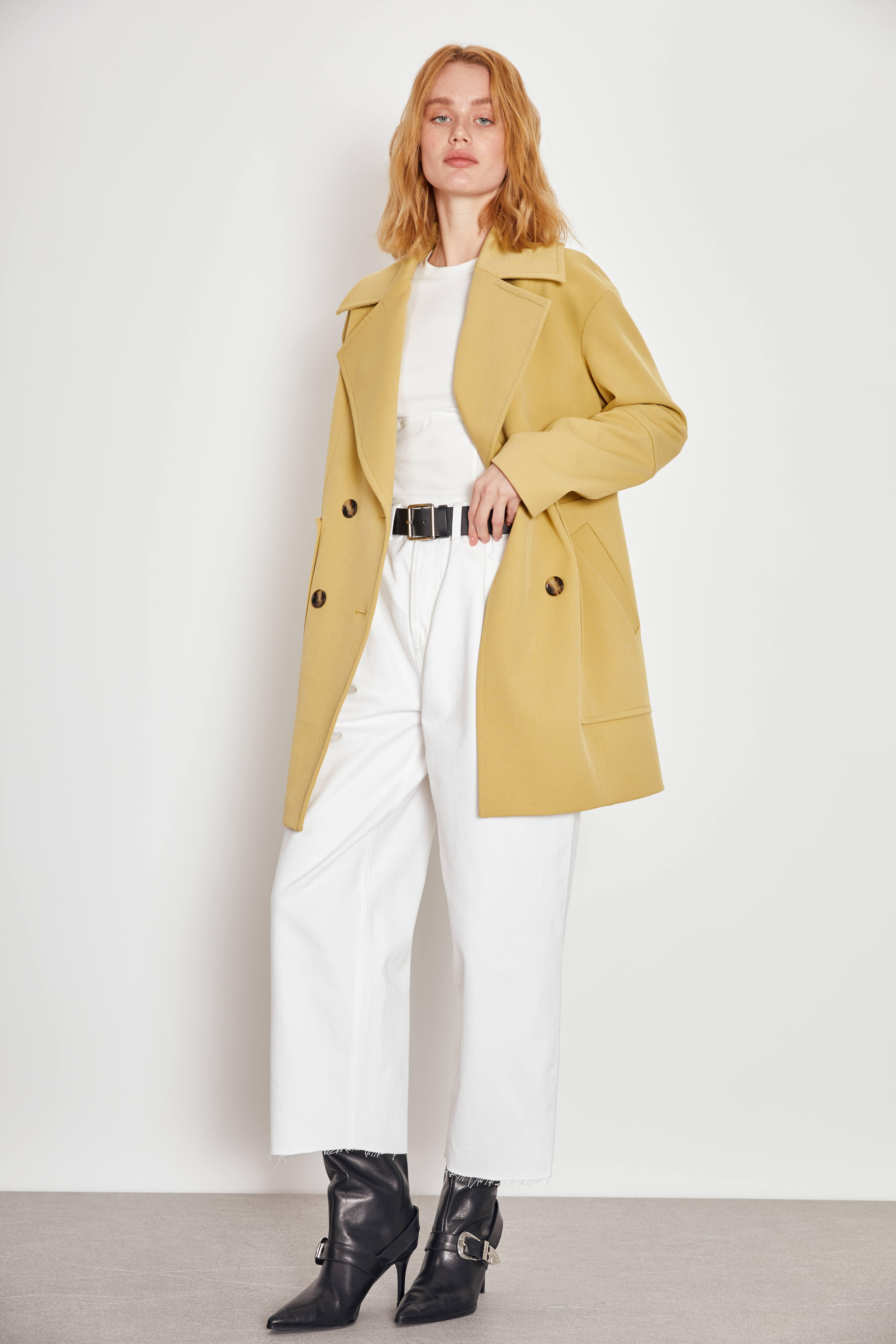 цена Пальто LIME Пальто с накладными карманами онлайн в 2017 году