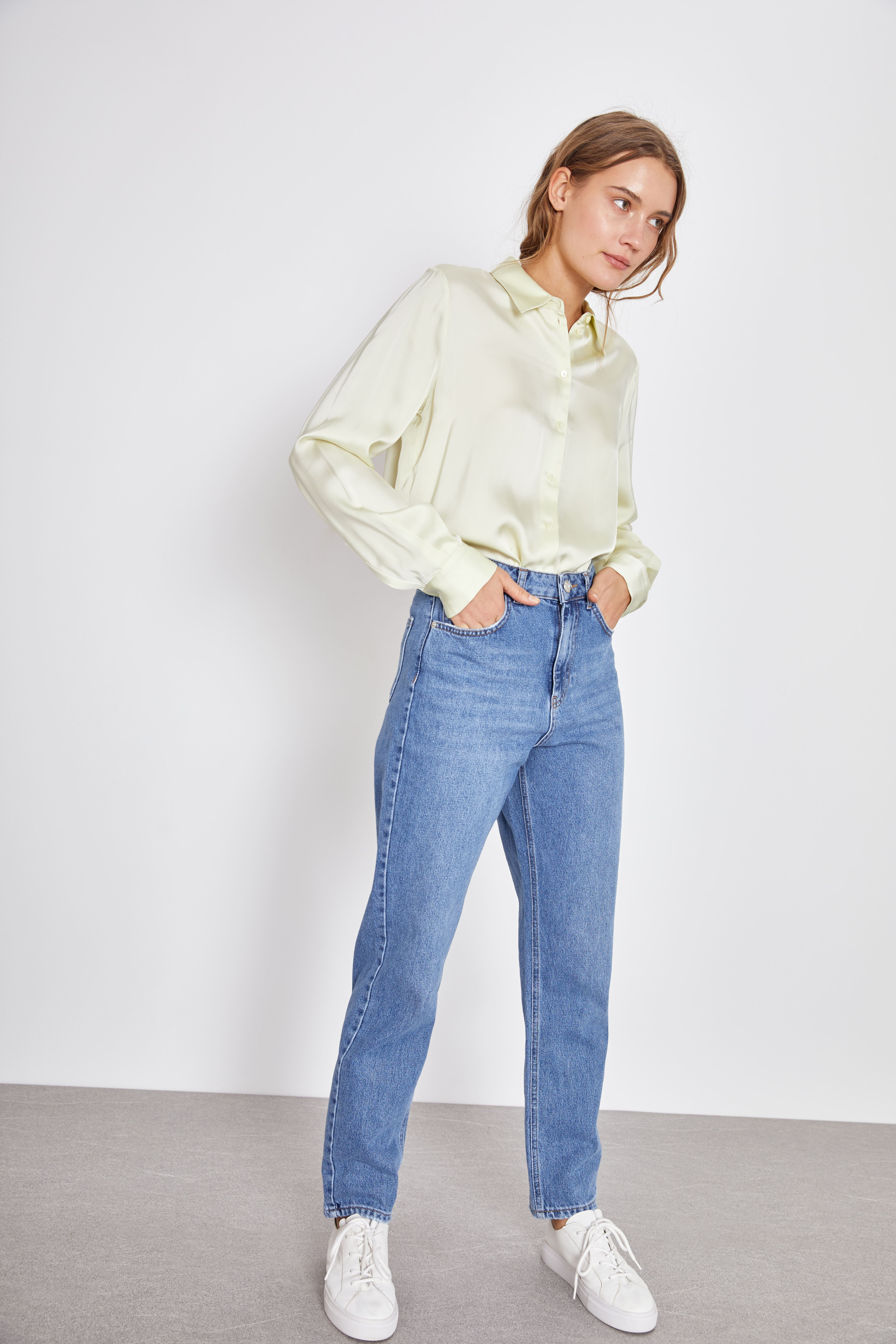 Фото - Рубашка LIME Рубашка из гладкой ткани рубашка greg greg mp002xm05sgb