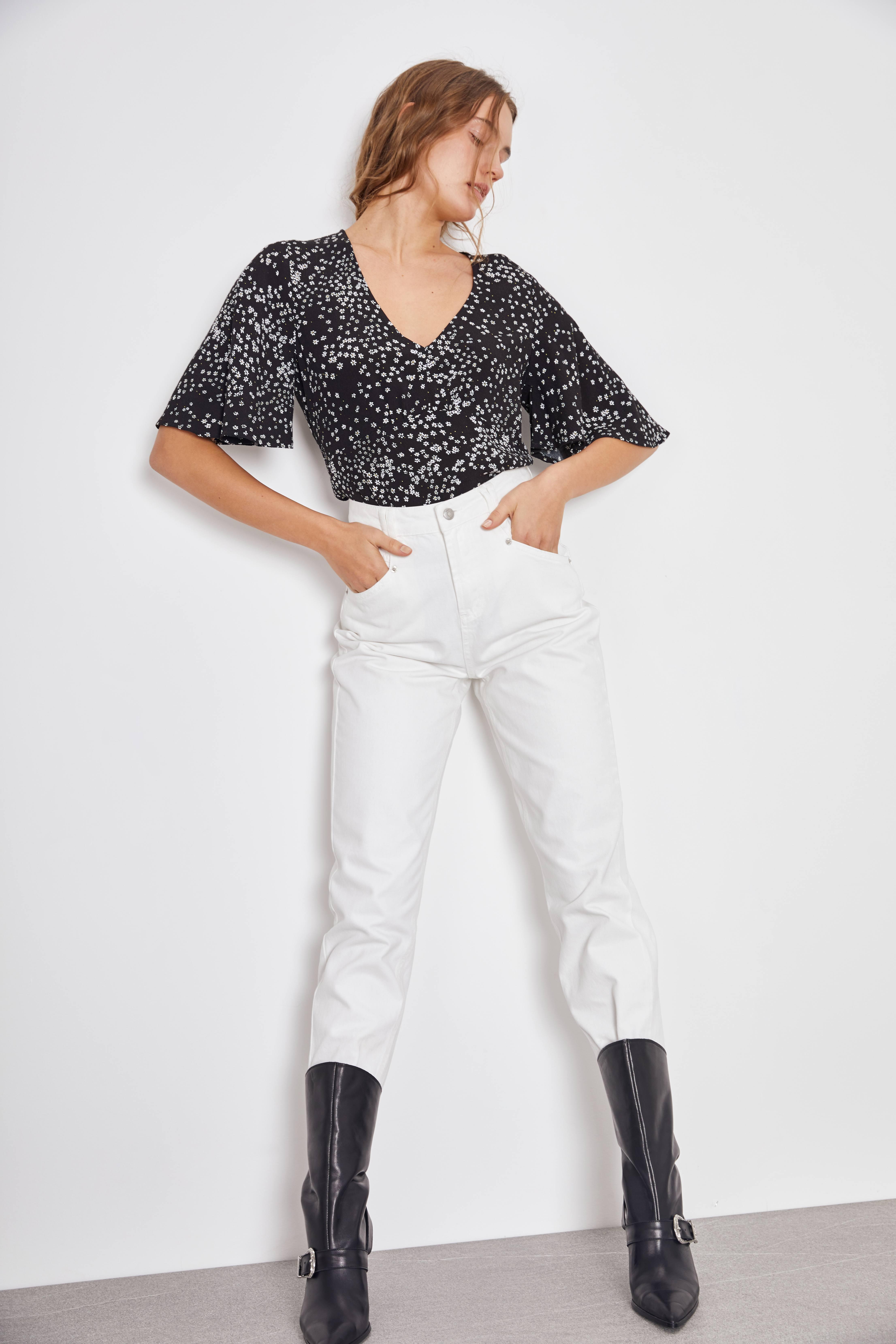 цена на Блузка LIME Блузка с V-образным вырезом