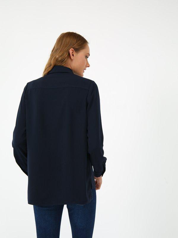 Рубашка с закрытой планкой вид сзади