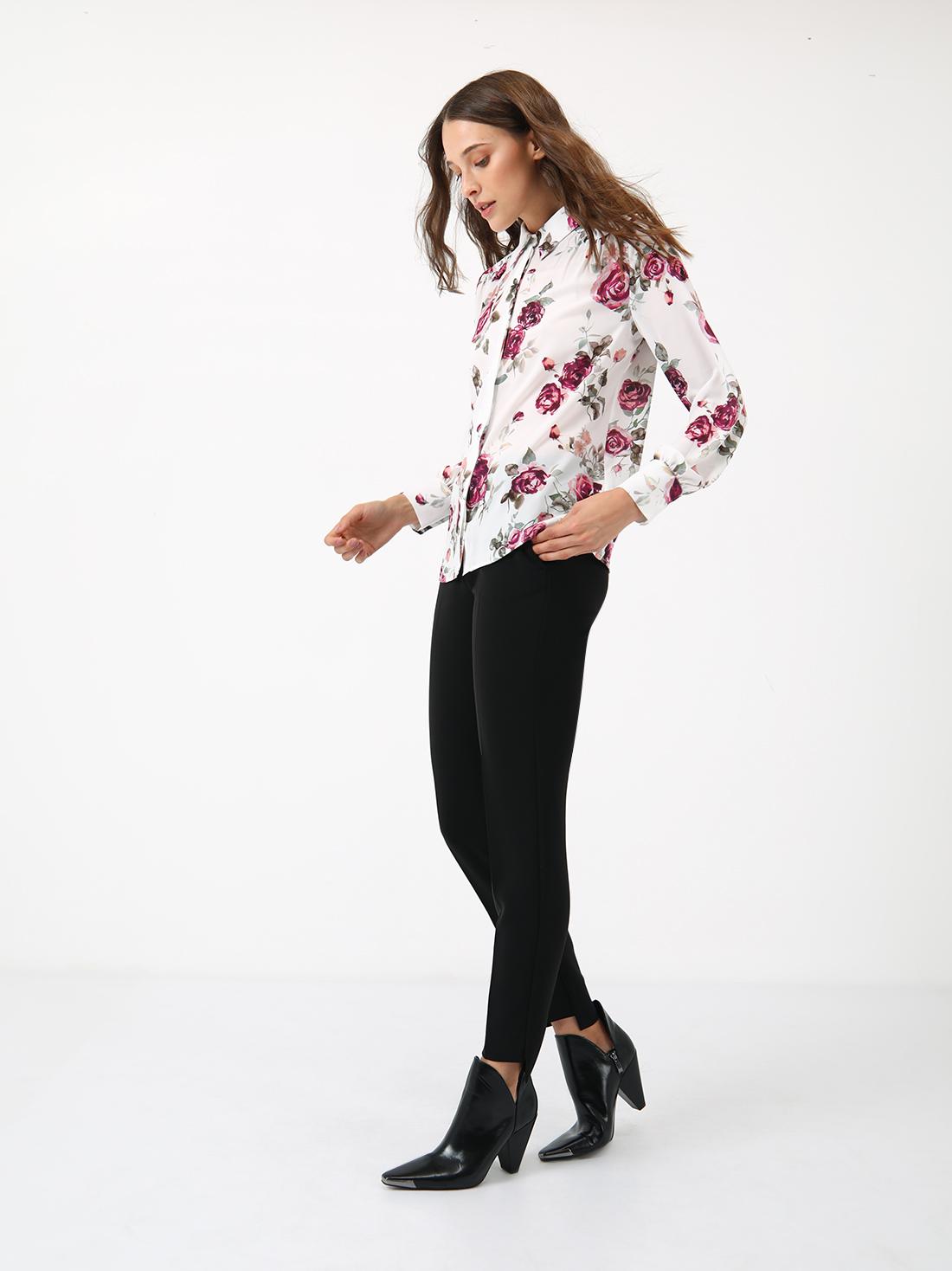 Рубашка с цветочным принтом