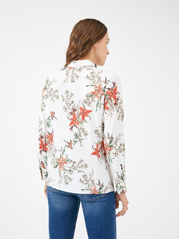 Блузка с анималистическим принтом вид сзади