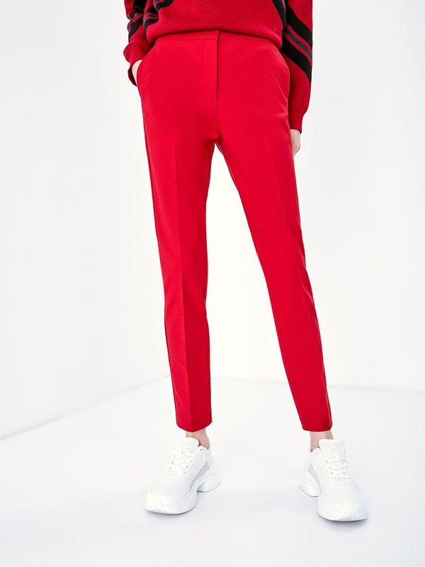 Зауженные брюки цвет: красный