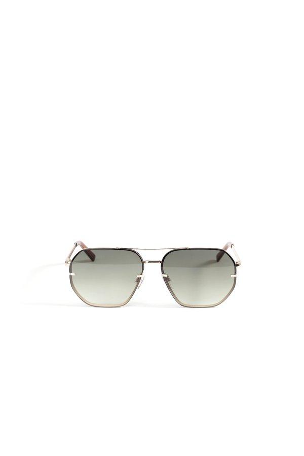 Солнцезащитные очки в металлической оправе цвет: хаки