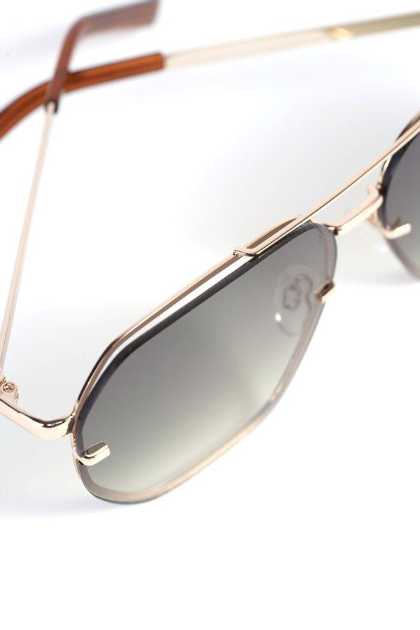 Солнцезащитные очки в металлической оправе вид сзади