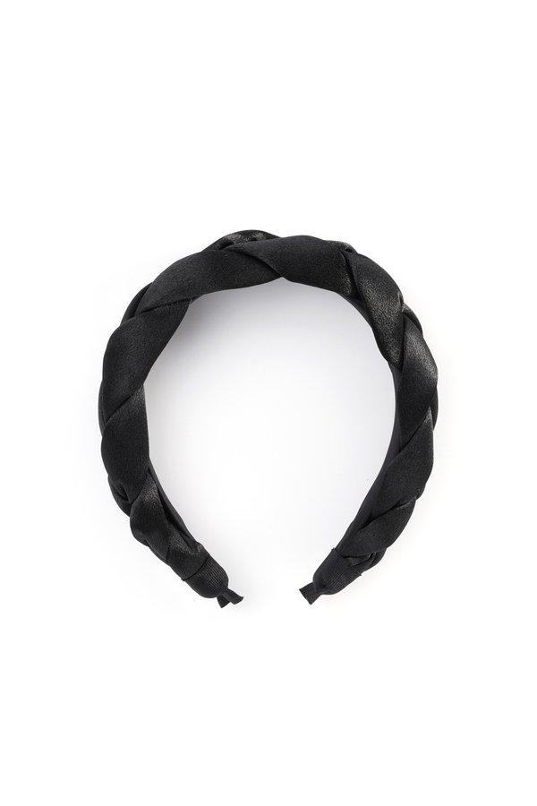 Плетеный ободок цвет: черный