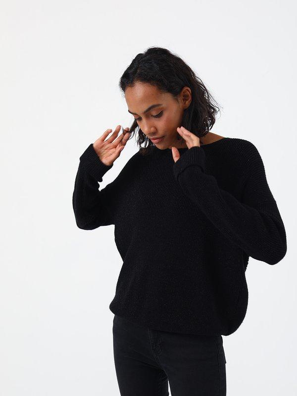 Джемпер с перекрученной спинкой цвет: черный