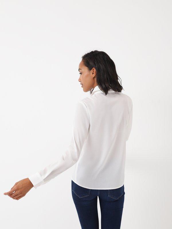 Блузка со вставками вид сзади
