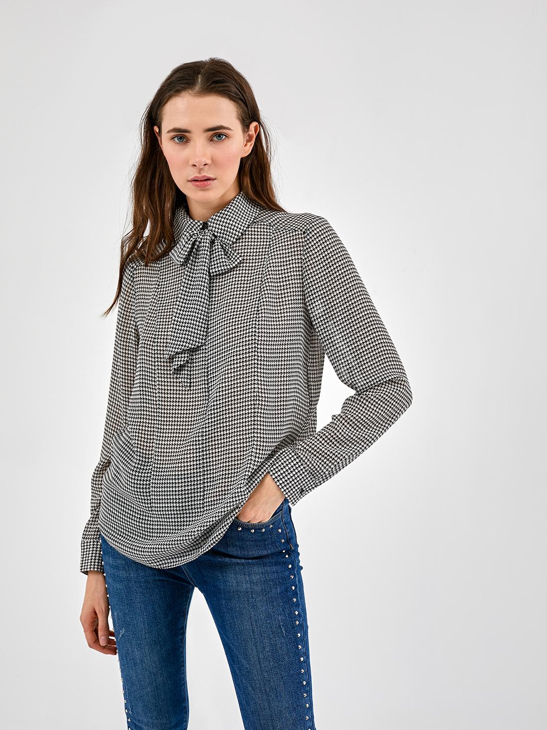 Рубашка с принтом гусиная лапка