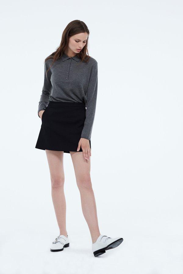 Юбка-шорты цвет: черный
