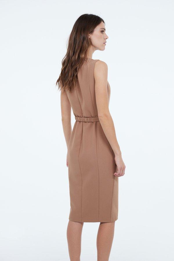 Платье с разрезом на молнии вид сзади