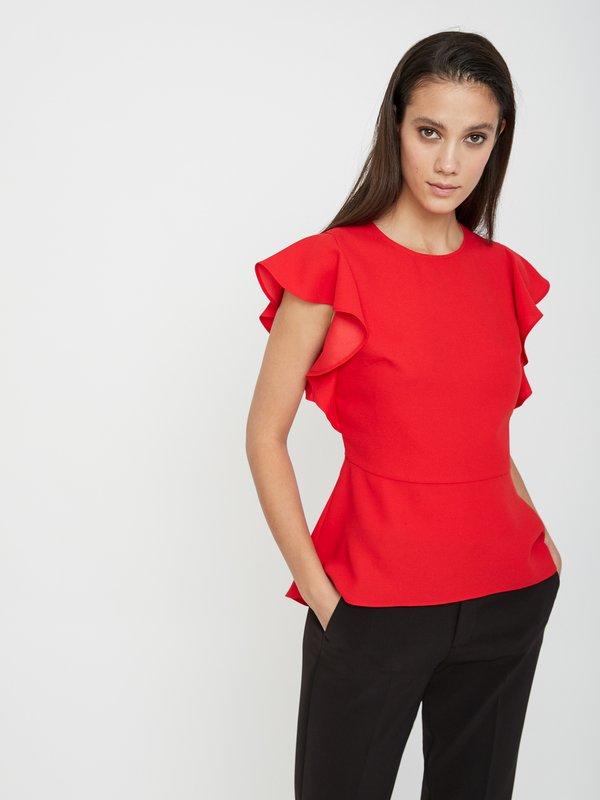 Блузка с асимметричным низом цвет: красный