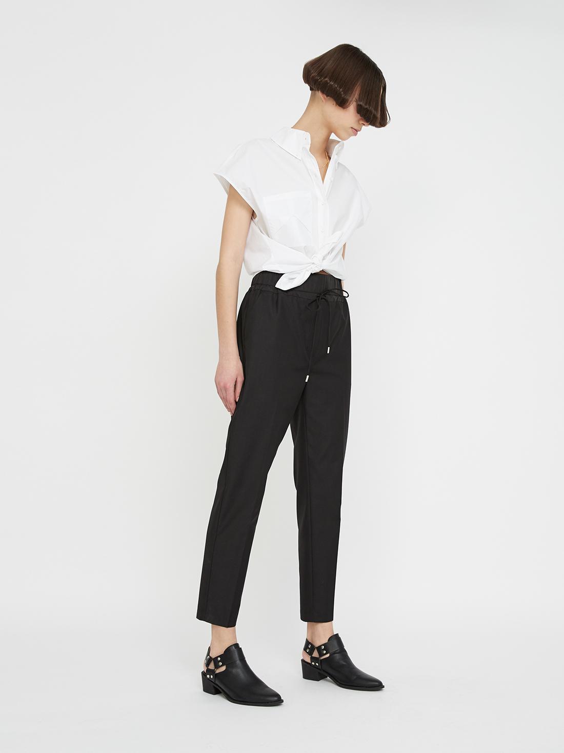 Рубашка с отложным воротником на пуговицах
