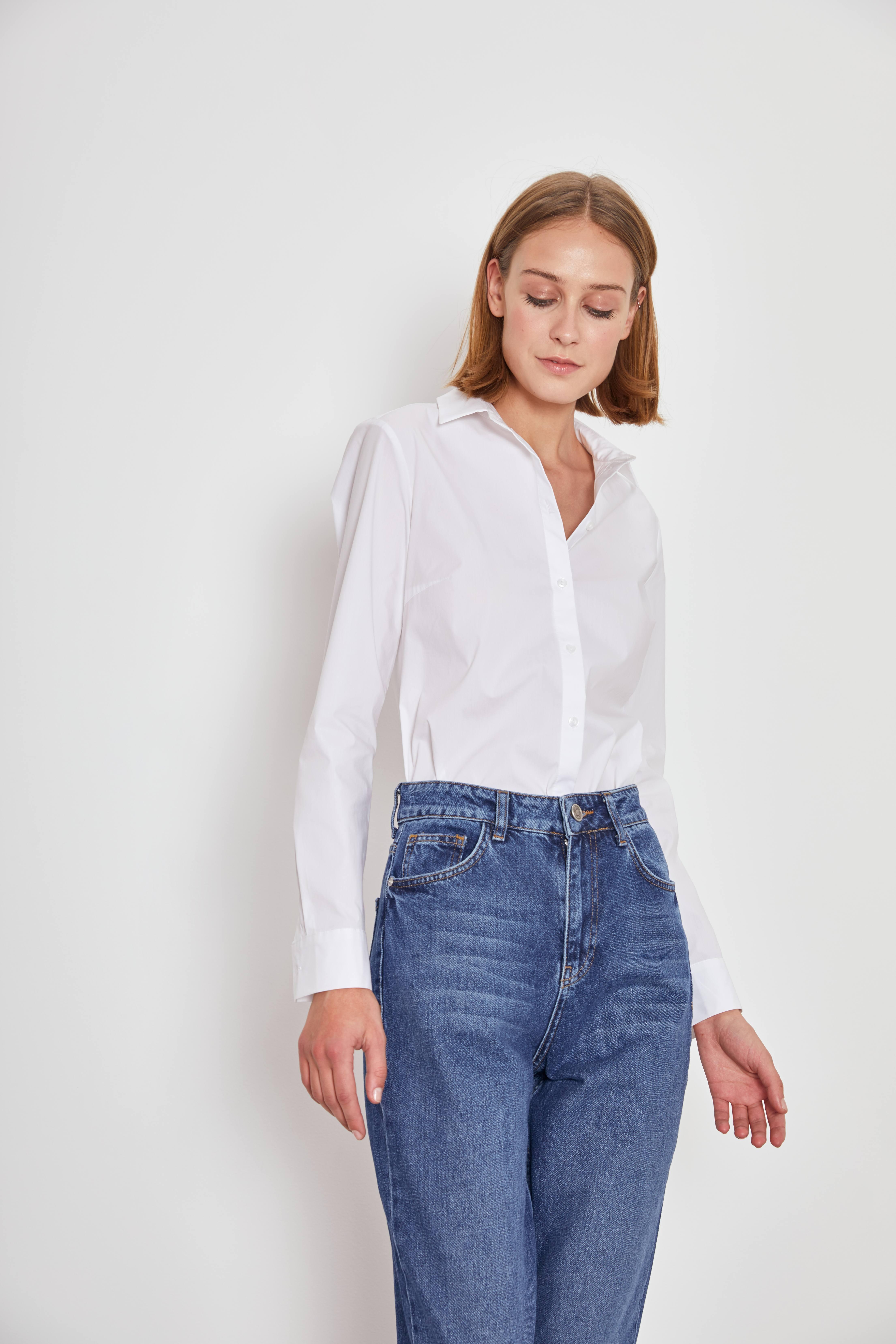 Рубашка LIME Классическая рубашка рубашка mezaguz mezaguz me004emargc8