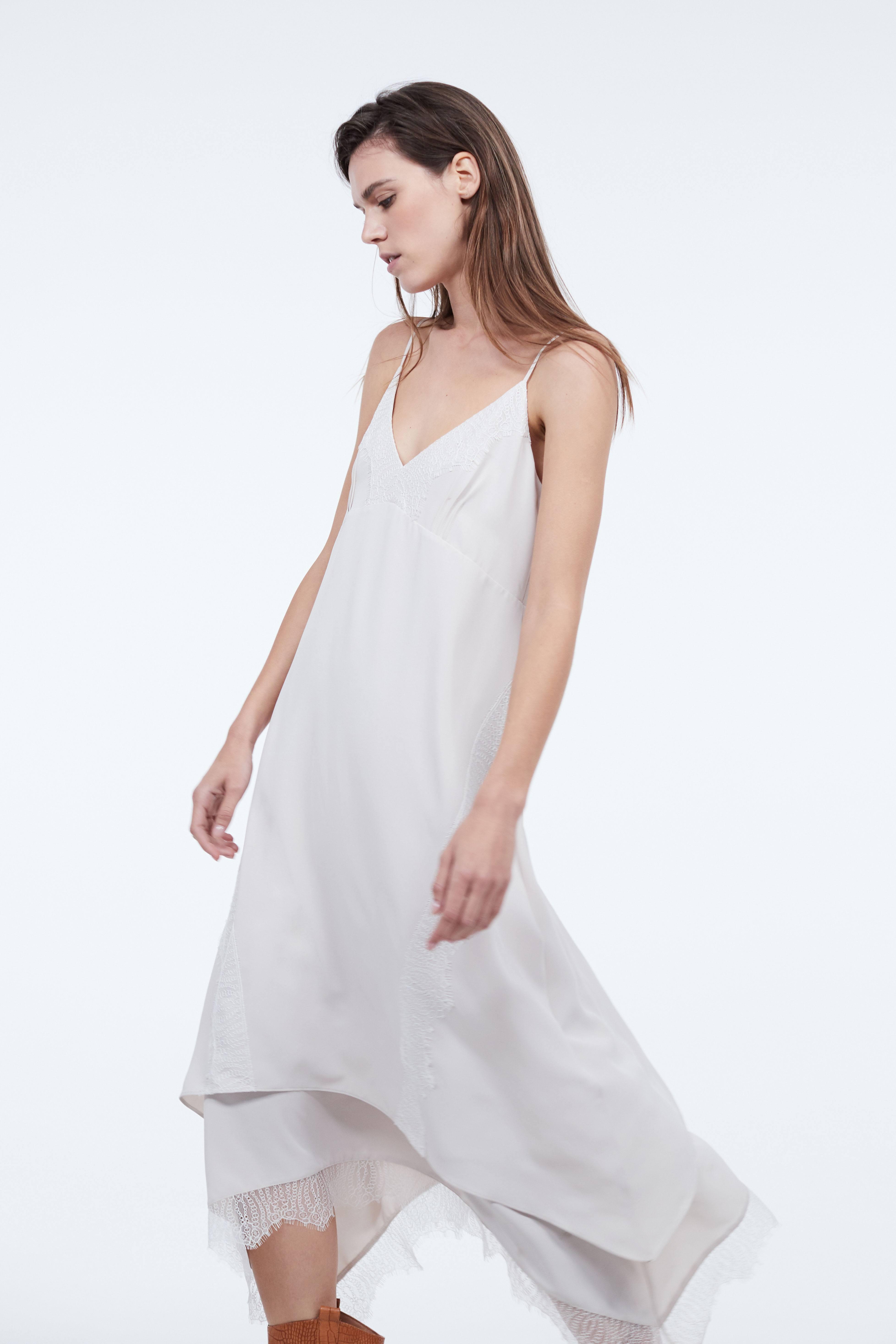 Платье LIME Платье с кружевом свободное платье в сочетании с кружевом chloah