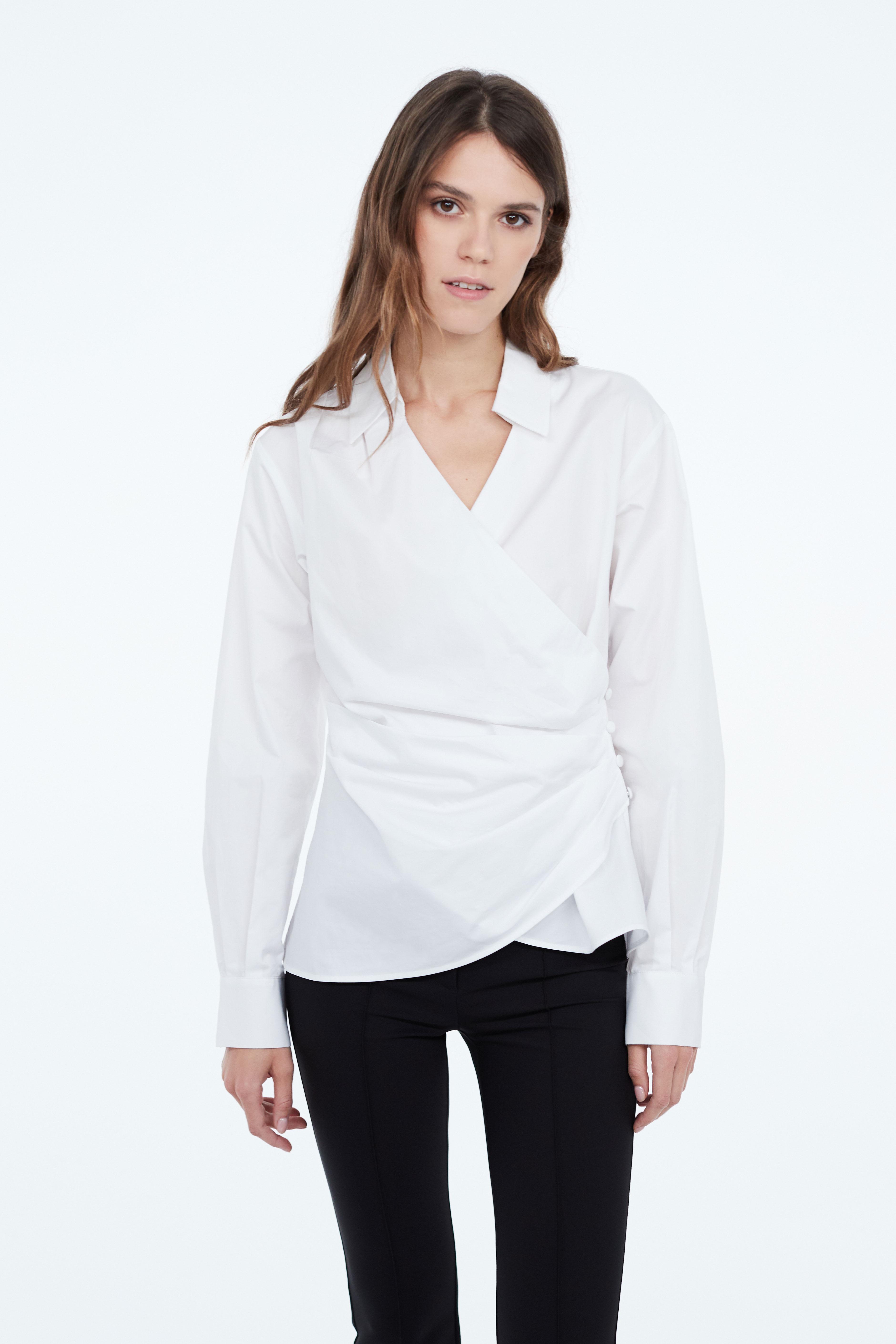 Блузка LIME Блузка с запахом на пуговицах юбка с запахом на пуговицах