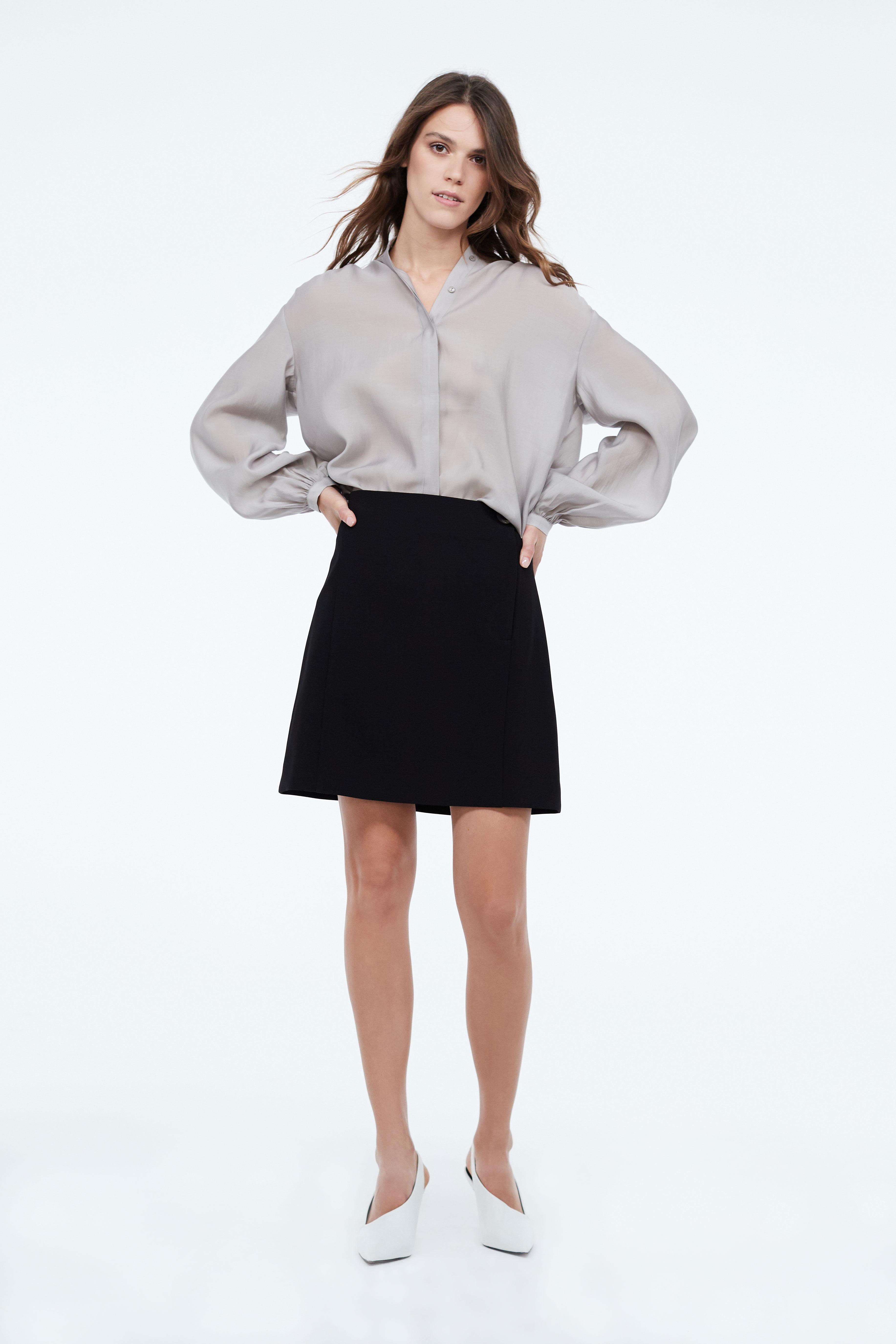 Юбка LIME Юбка с асимметричной застежкой юбка lime юбка с запахом