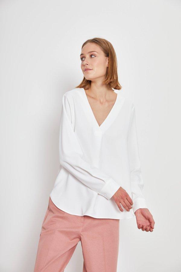 Рубашка в стиле OVERSIZE цвет: молочный