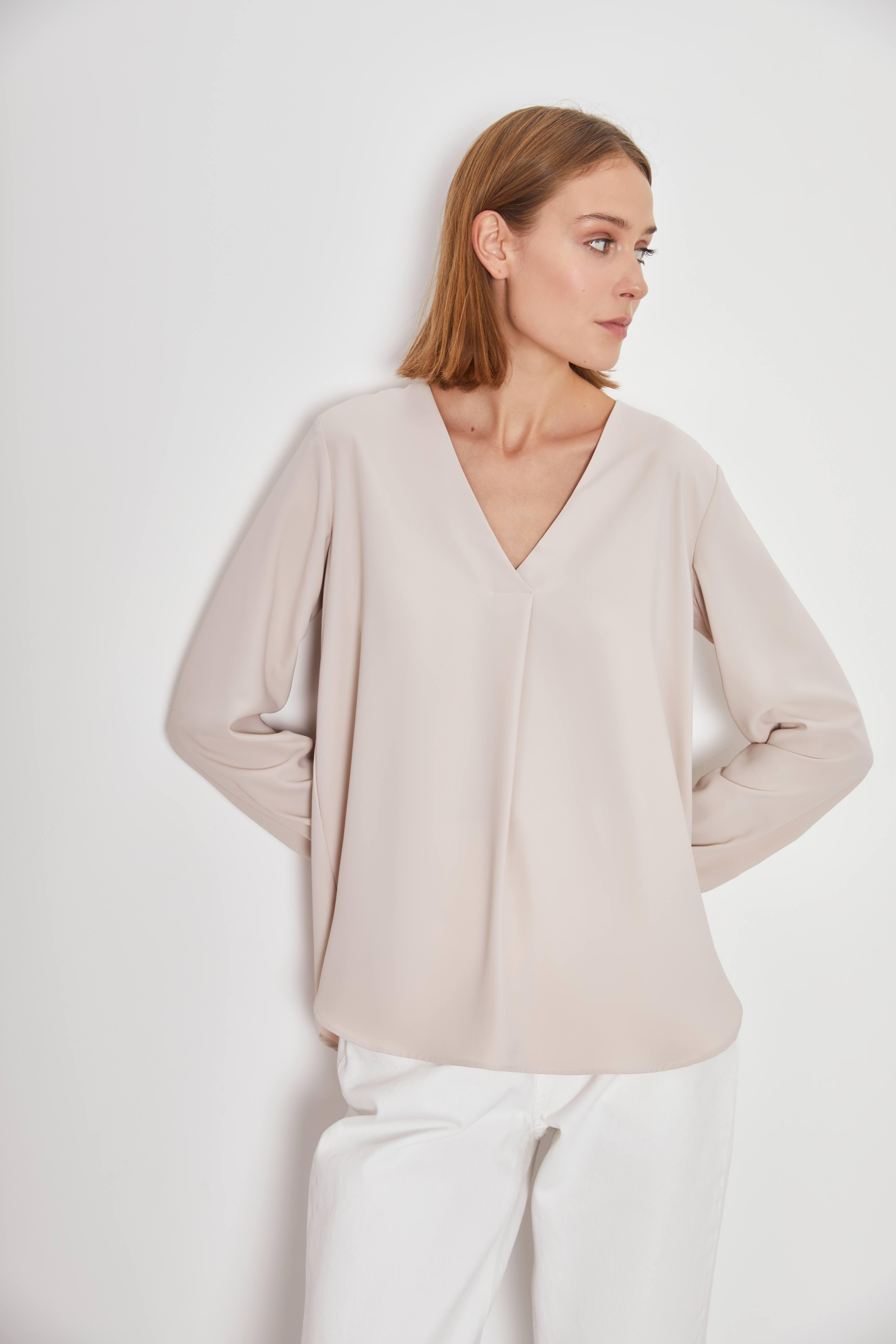 Блузка LIME Рубашка в стиле OVERSIZE