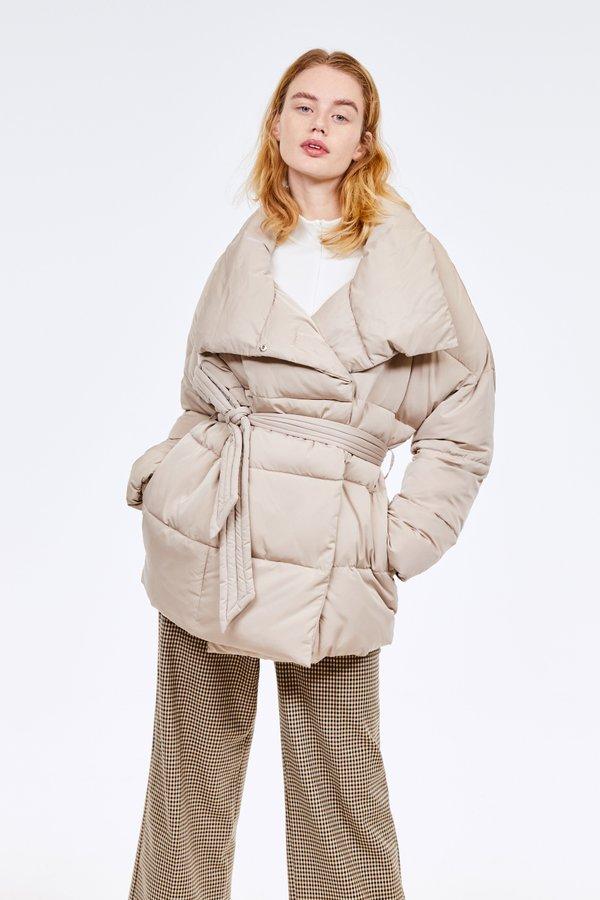 Куртка с воротником-стойка цвет: бежевый