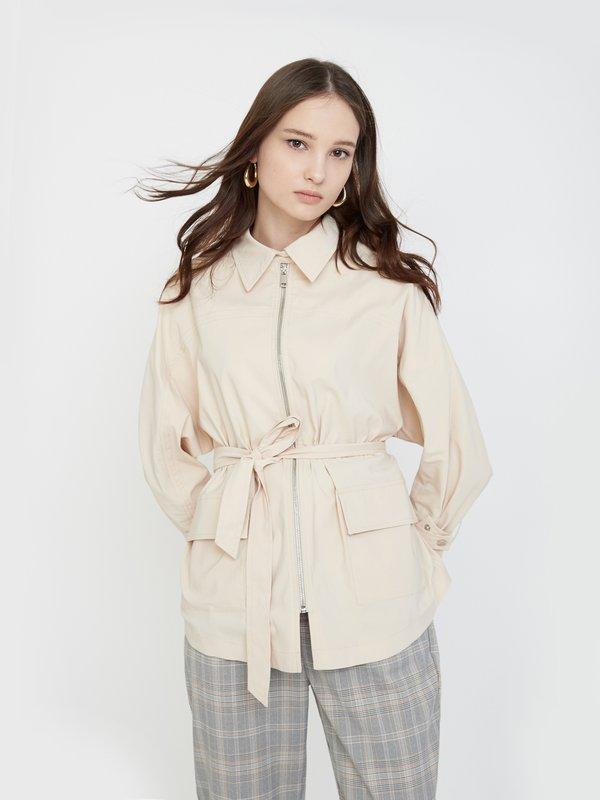 Куртка с отложным воротником