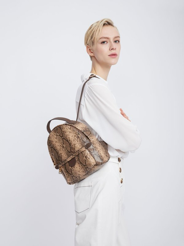 Рюкзак на молнии с внешним карманом