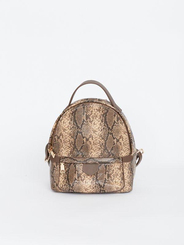 Рюкзак на молнии с внешним карманом вид сзади