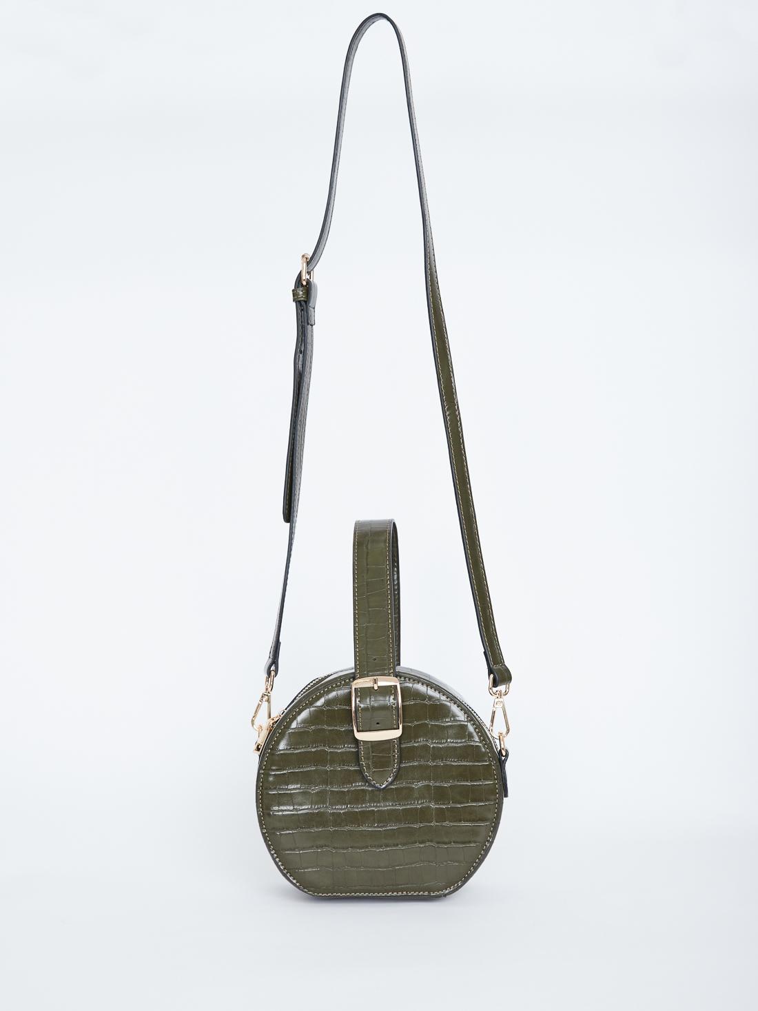 Круглая структурная сумка на молнии