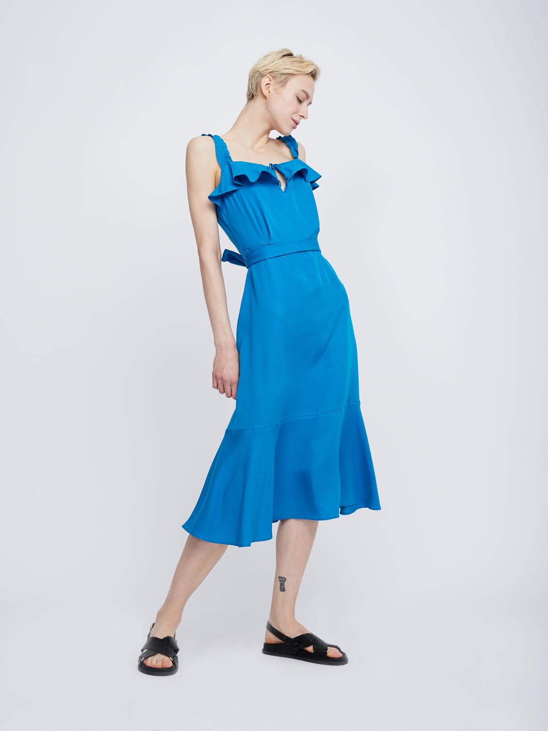 Платье-миди из лиоцелла