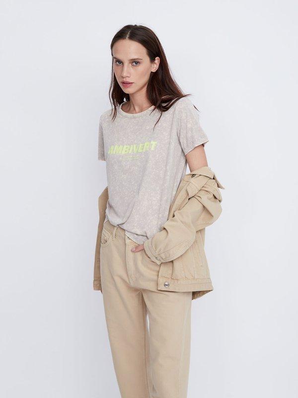 футболка цвет: серый