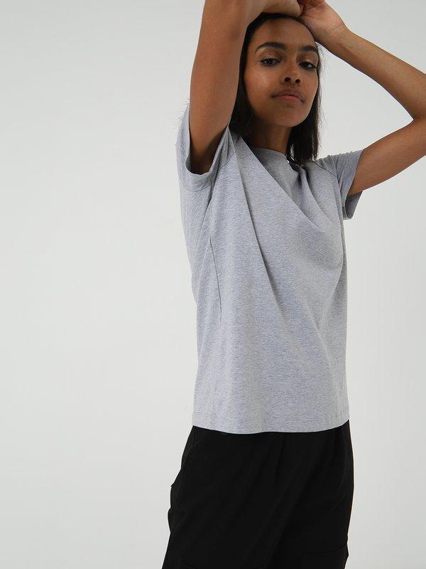 Классическая футболка цвет: серый меланж
